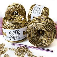Трикотажная пряжа Pastel XL Metallic Золото 55м, фото 1