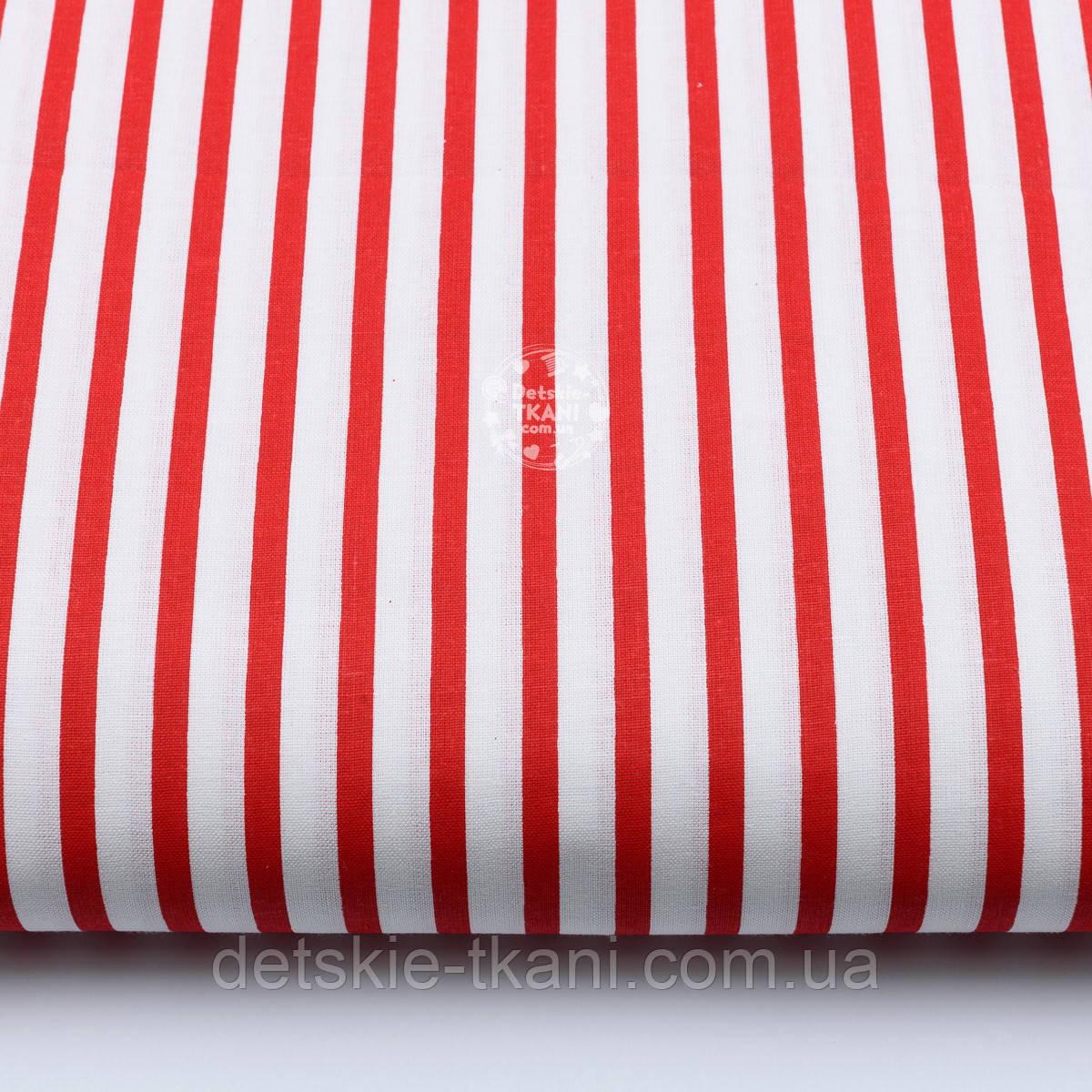 Бязь с красной полоской шириной 6 мм (№ 136а).