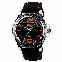 Skmei 0992 robby помаранчеві чоловічі класичні годинник, фото 1