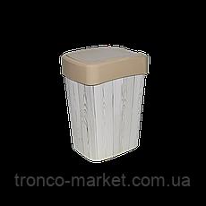Ведро Евро для мусора с декором 10л., фото 2
