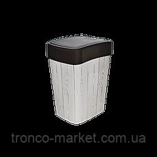 Ведро Евро для мусора с декором 10л., фото 3