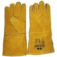 Краги 4507 сварщика с подкладкой, желтые, р10