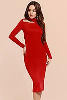 Женское трикотажное платье с вырезом, фото 1