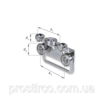 Боковые ролики тента для шторной крыши Bozamet тип BCSLS, BCSLS.65, фото 2