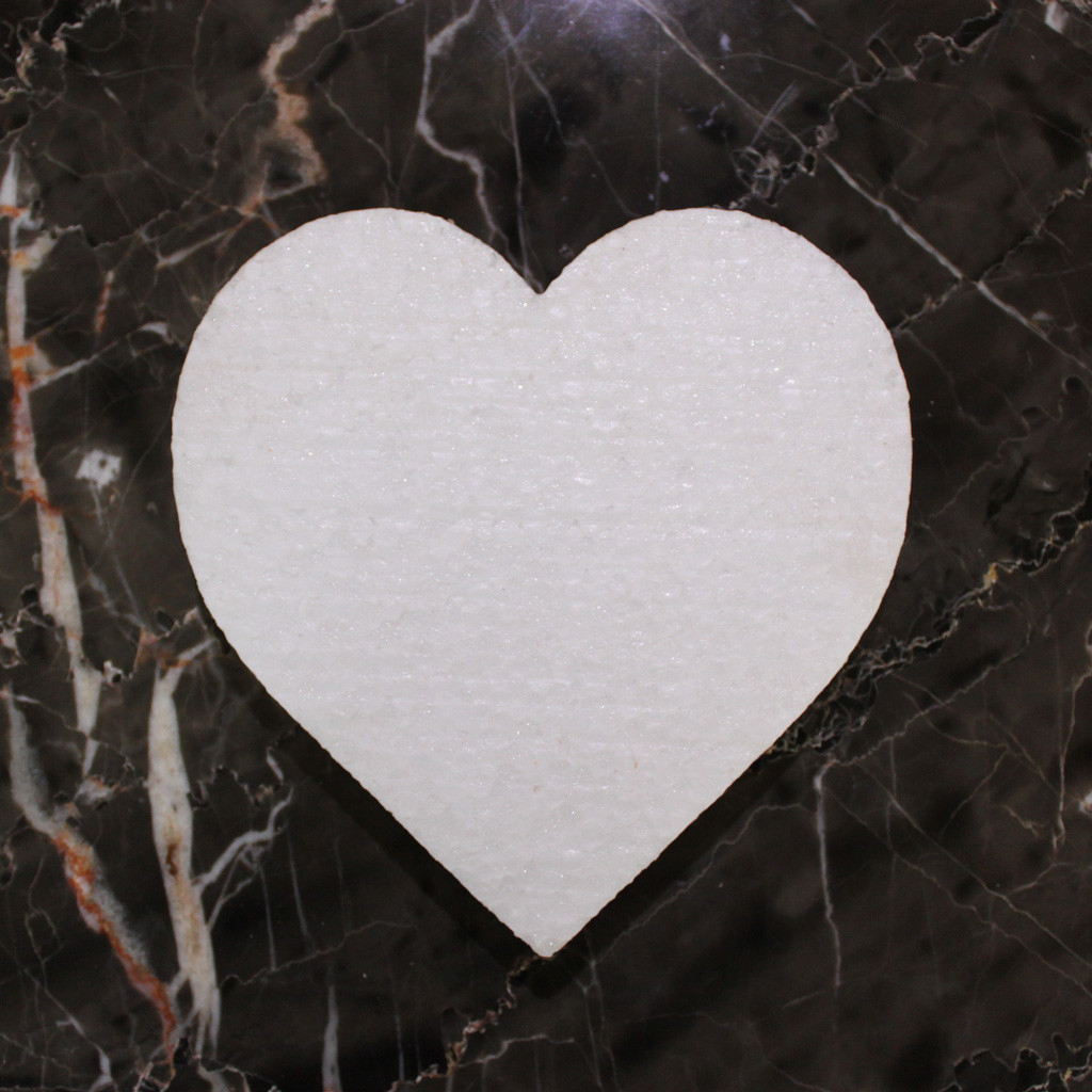Сердце пенопластовое 25 см