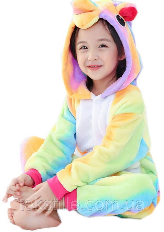 Кигуруми для детей Единорог Радужный 110,120,130,140