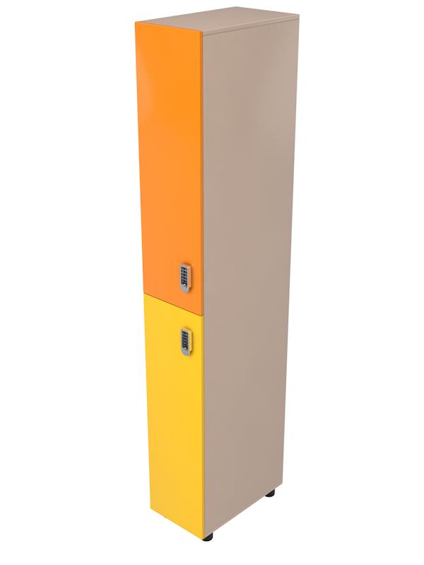Шкафчик для раздевалок на 2 секции