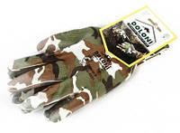 Перчатки 4551 трикотажные с полиуритановым покрытием -Милитари, р9
