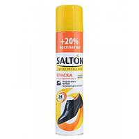 Краска Salton для обновления цвета изделий из гладкой кожи Черная, 300 мл