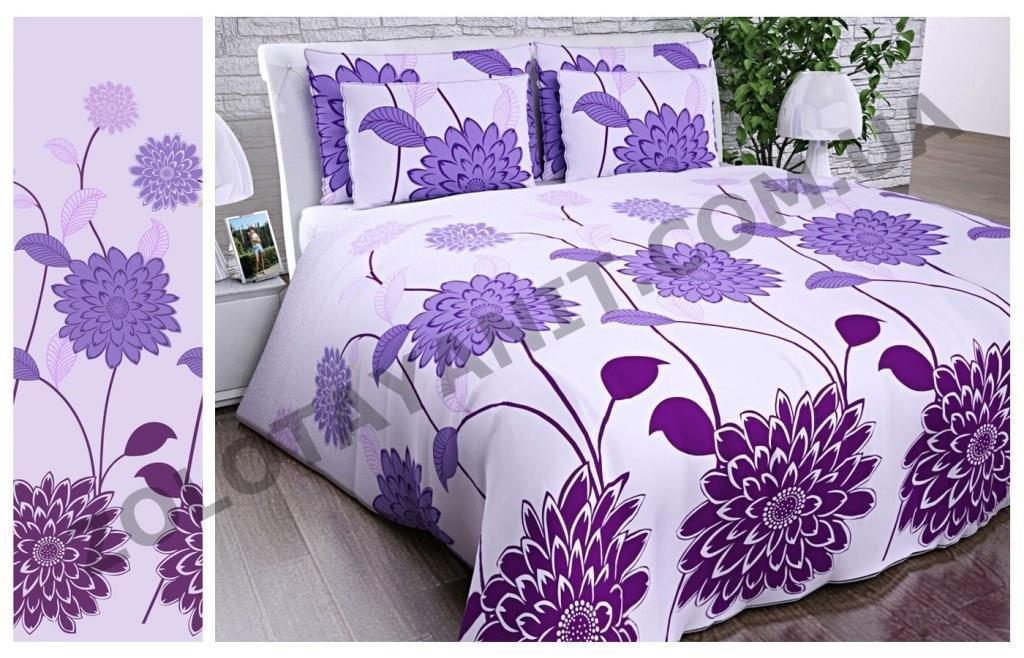 """Постільна білизна """" Фіолетові квіти"""""""
