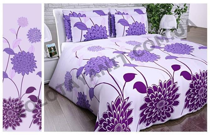 """Постільна білизна """" Фіолетові квіти"""", фото 2"""
