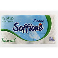 Трехслойная туалетная бумага Soffione Natural 8рулонов