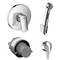 Набор для биде HANSGROHE Logis 71666111 (смеситель скрытого монтажа с гигиеническим душем)