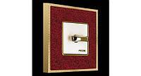 Установочная рамка 1 местн. NEW BELLE EPOQUE CORINTO, красный-яркое золото