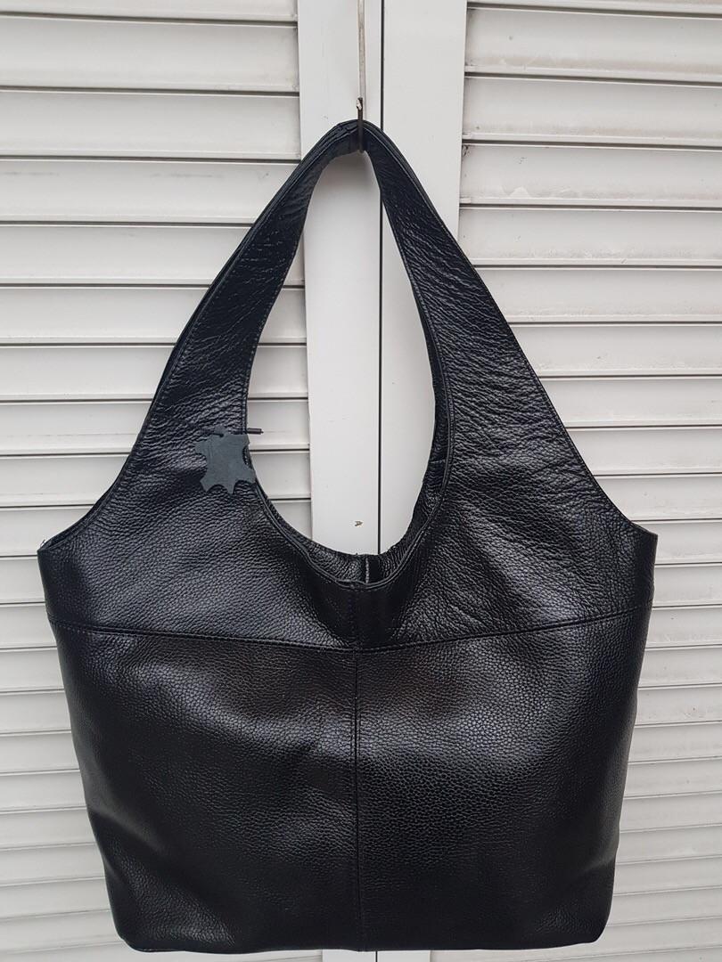 Большая кожаная женская сумка