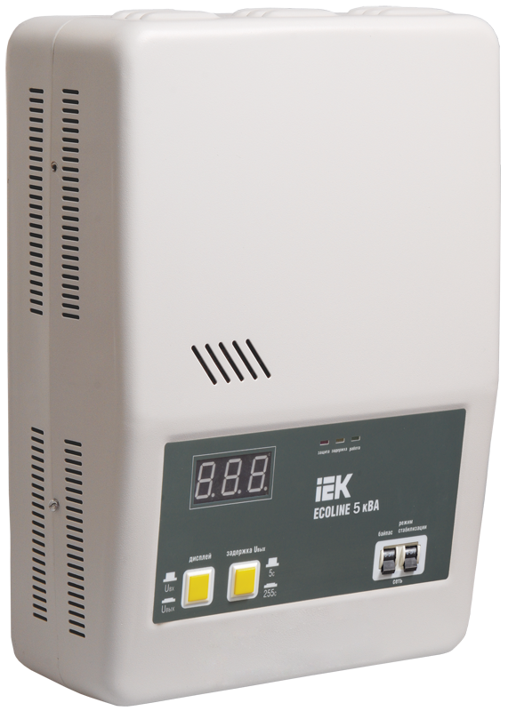 Стабилизатор напряжения Ecoline 5 кВА электронный настенный, IEK