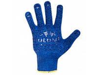Перчатки 646 синие (долоня-нанесение ПВХ синее) 2 нитки ХБ60%/ПЕ40%
