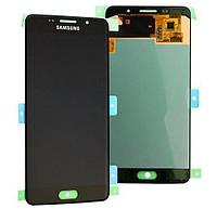 Дисплей для Samsung A510F Galaxy A5 (2016) с тачскрином черный Оригинал