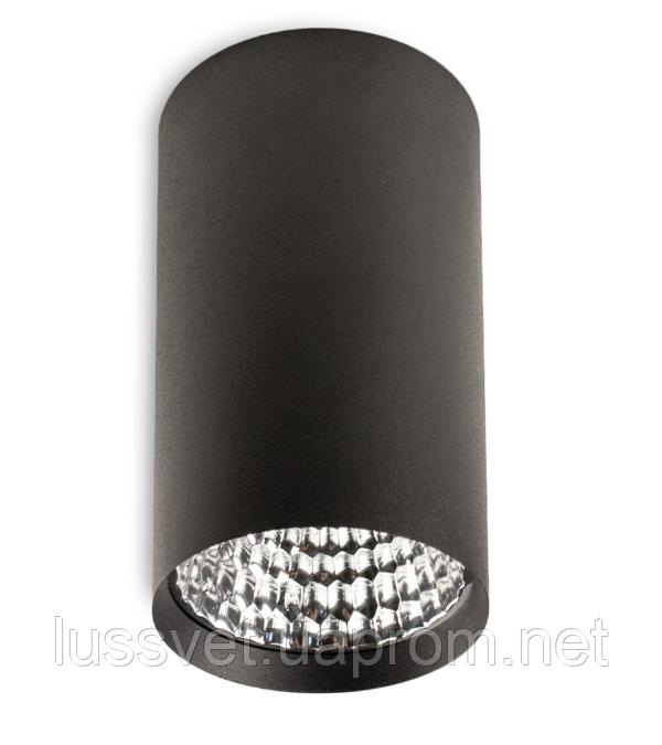 Світильник накладної циліндр Mycom 12W чорний білий