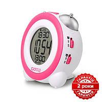 Электронный будильник розовый GOTIE GBE-200R, фото 1