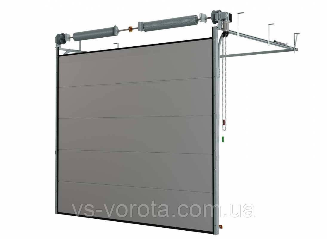 Ворота TREND размер 5500х2200 мм - ALUTECH Белоруссия, гаражные секционные