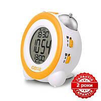 Электронный будильник жёлтый GOTIE GBE-200Y, фото 1