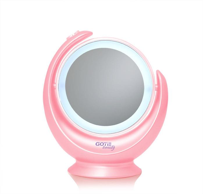 Косметическое зеркало GOTIE GMR-319R LED розовое