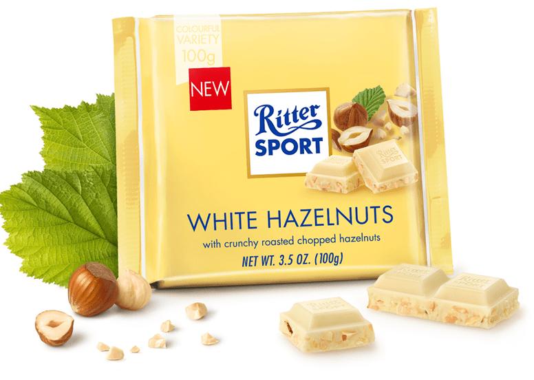 Шоколад Ritter Sport White Hazelnuts, 100г (білий з фундуком )