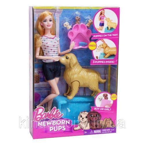 Кукла Барби с собакой Рожает щенков 057