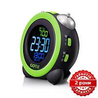 Электронный будильник зеленый GOTIE GBE-300Z, фото 1