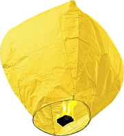 Небесный фонарик купол желтый
