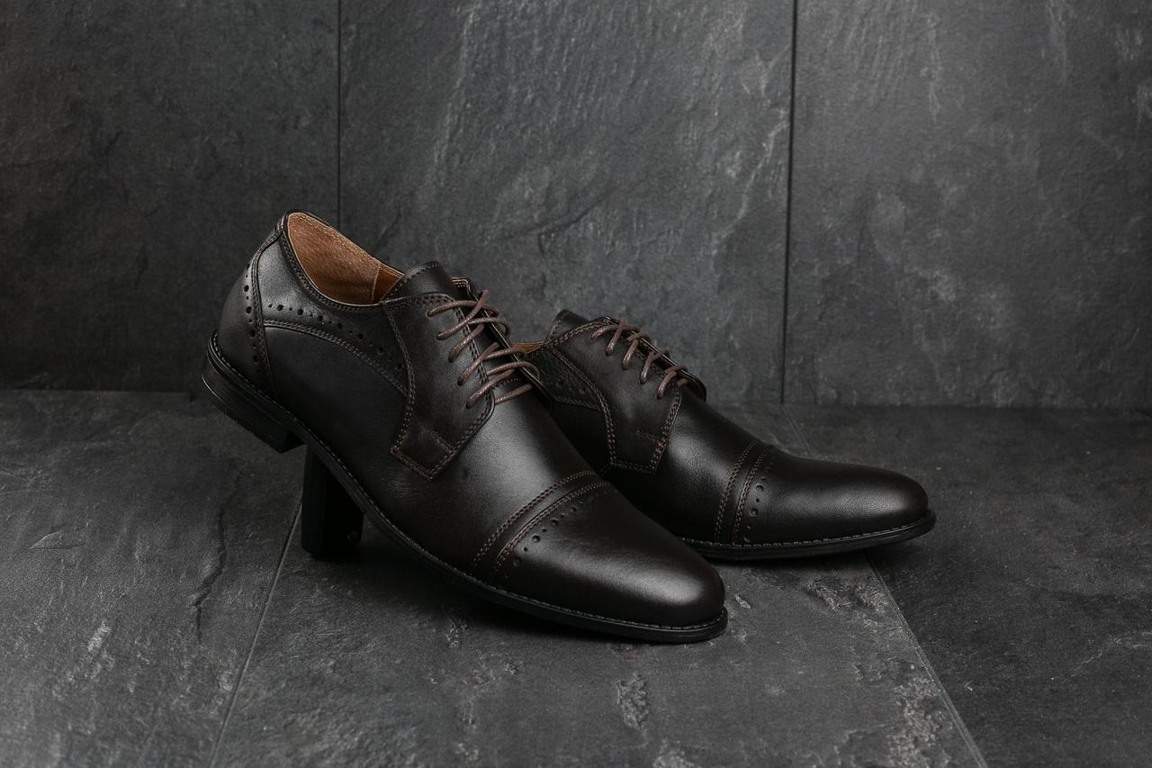 Мужские туфли Bonis 82 (весна-осень, мужские, кожа, коричневый)