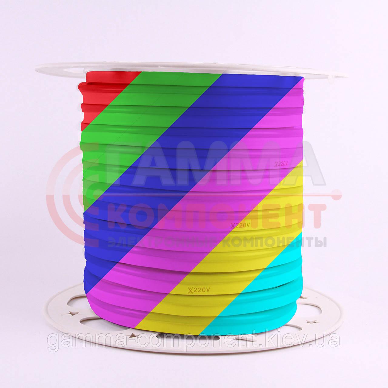 Светодиодный неон 220В RGB AVT smd 5050-72 лед/м 12Вт/м, герметичный. Бухта 50 метров.