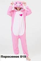 Пижама Кигуруми для всей семьи Поросенок 015 женская (размер 42-48)