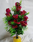 Букет роз с ромашкой NC-16-78, (7 шт./уп.) Искусственные цветы оптом, фото 2