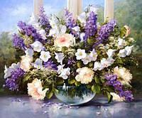 Картина для рисования по номерам, букет полевых цветов 50х40 см