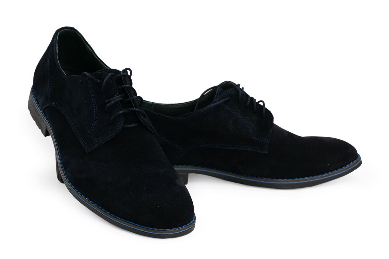 Мужские туфли Vankristi 280 (весна-осень, мужские, замш, синий)