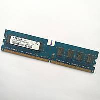 Оперативная память Elpida DDR2 2Gb 800MHz PC2 6400U CL6 (EBE21UE8AFFA-8G-F) Б/У