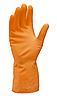 Перчатки Z-BEST Prof. Line-45194 плотные оранжевые латексные хозяйственные  р.М-8 пара (100я)