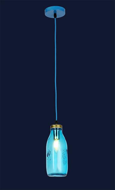 """Светильник подвесной в стиле loft """" Бутылка"""" LV 756PR5520-1 BLUE"""