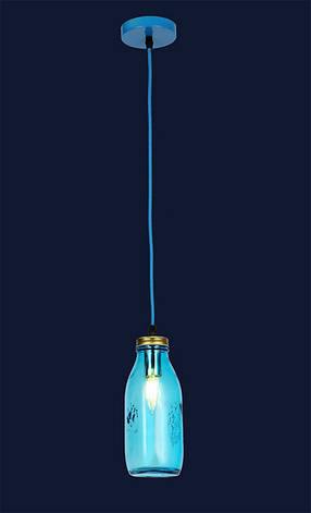 """Светильник подвесной в стиле loft """" Бутылка"""" LV 756PR5520-1 BLUE, фото 2"""