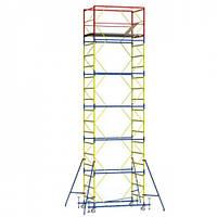Вышка - тура - ширина 0,8 м, длина 1,6 м, высота настила - 2,8 м, рабочая высота - 4,8 м