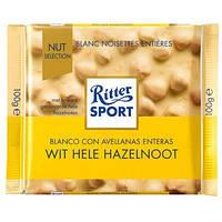 Шоколад белый Ritter Sport wit Hele Hazelnoot, 100г
