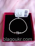 Серебряный браслет Пандора, Классический браслет Pandora 925 пробы, фото 9