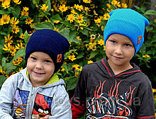 Вязаная весенняя шапка детская Хаус (3-10 лет)