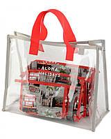 19a8428d71d3 Женская пляжная прозрачная сумка и набор косметичек «London» TRAUM (7241-34)