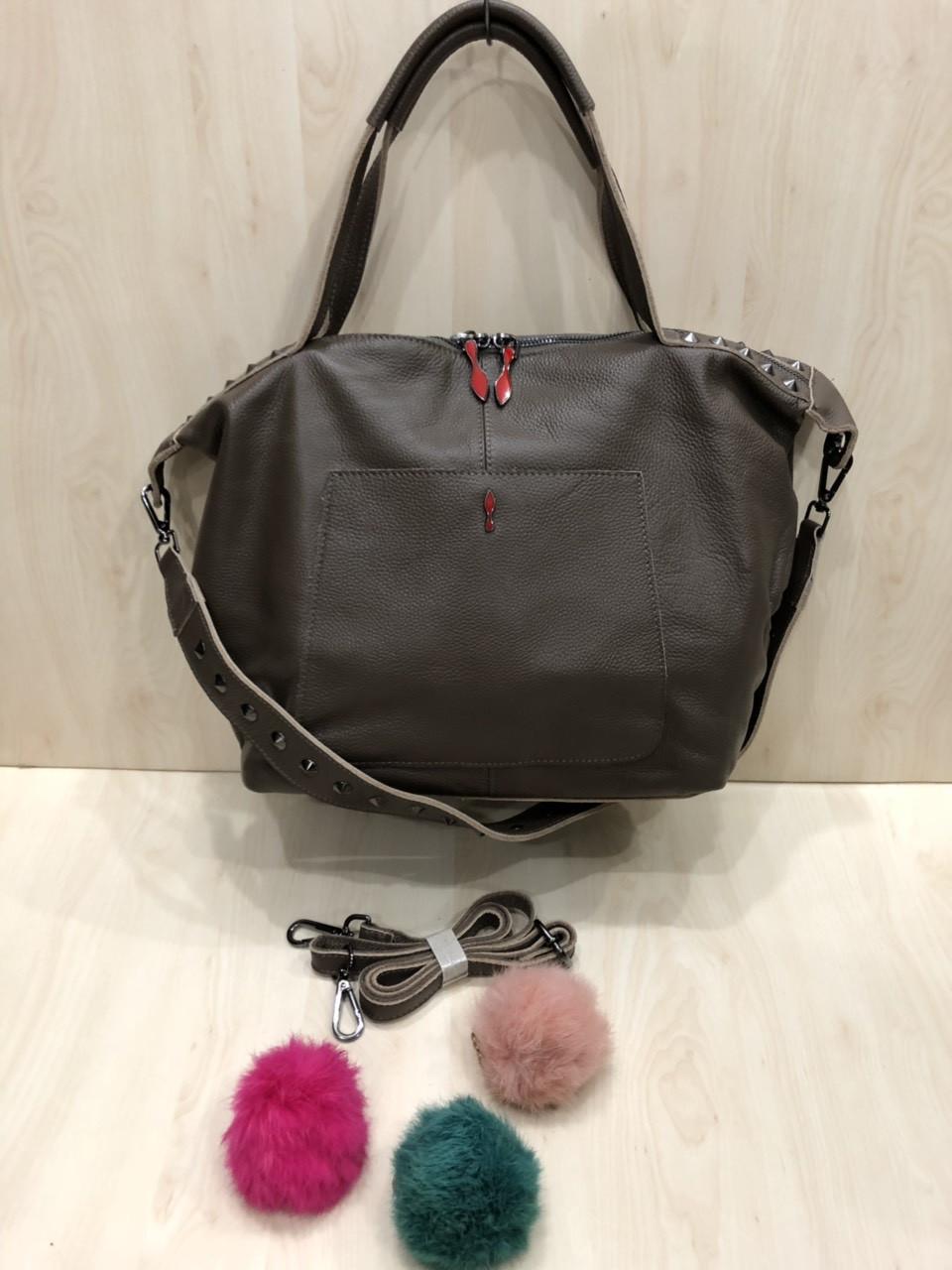 Женская кожаная стильная сумка