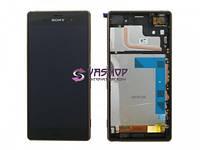 Дисплей Sony D6603, D6643 Xperia Z3 с сенсором (тачскрином) черный и рамкой медного цвета, Cooper Оригинал Китай
