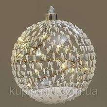 Led шар прозрачное стекло d12см 1008776