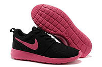Кроссовки женские Nike Roshe Run  black-pink